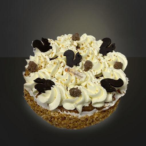 Afbeelding van Hazelnootschuim  taart